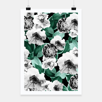 Black and White Floral Garden Glamor #3 #floral #decor #art Plakat thumbnail image