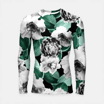 Black and White Floral Garden Glamor #3 #floral #decor #art Longsleeve rashguard thumbnail image