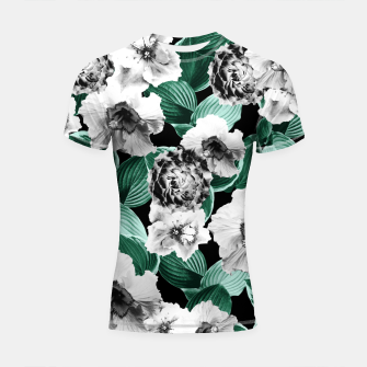 Black and White Floral Garden Glamor #3 #floral #decor #art Shortsleeve rashguard thumbnail image