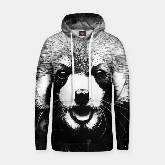 Thumbnail image of red panda portrait ws bw Hoodie, Live Heroes