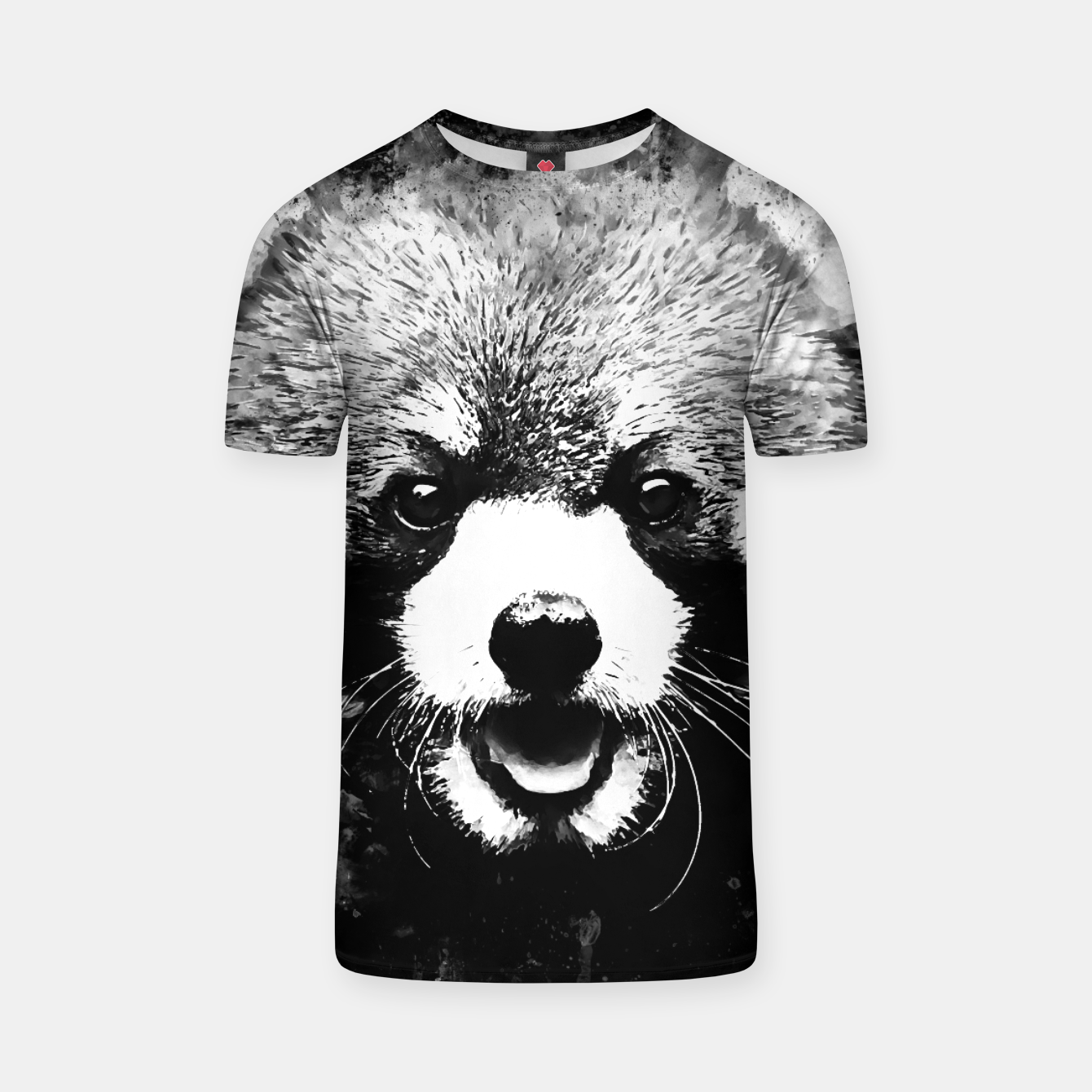 Image of red panda portrait ws bw T-shirt - Live Heroes
