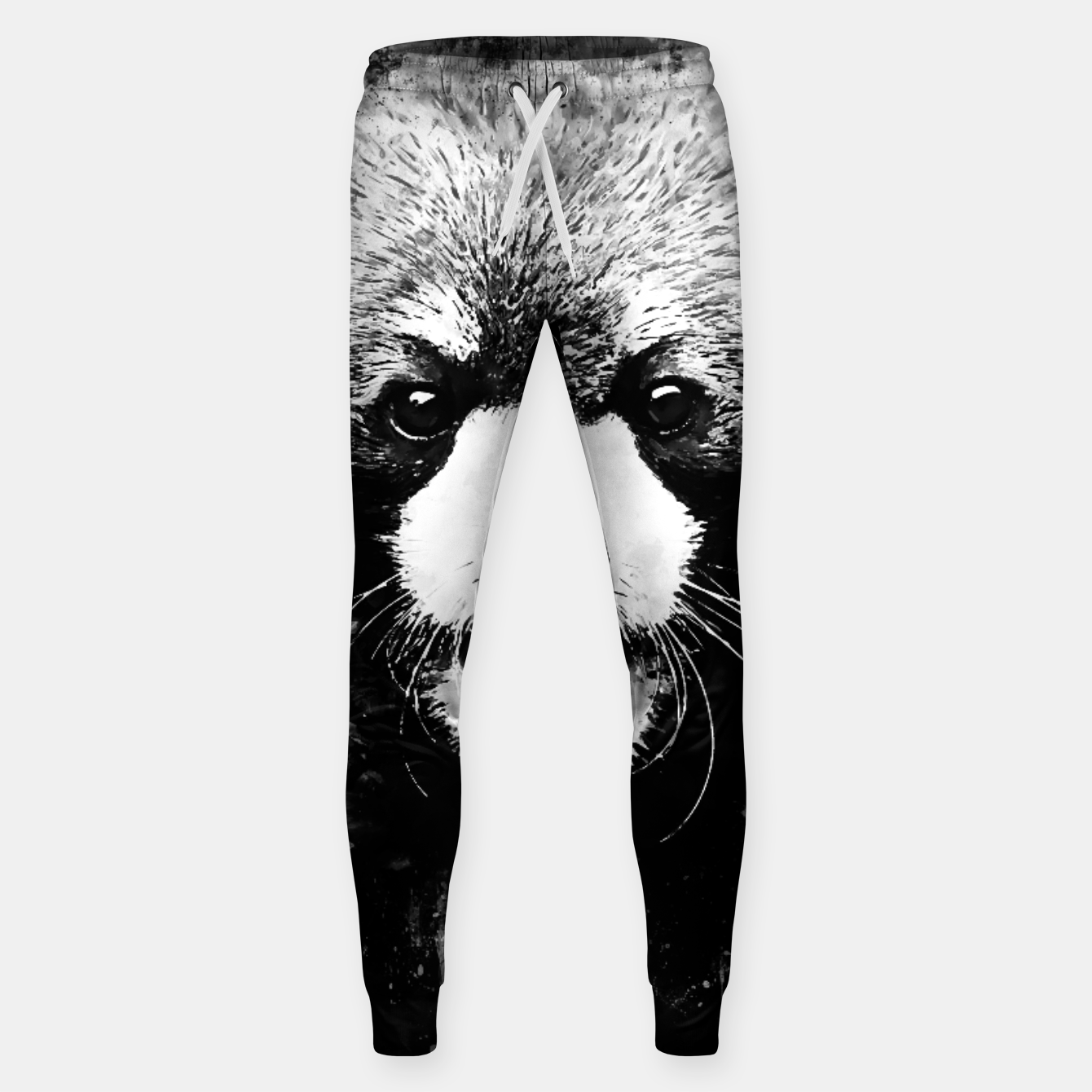 Image of red panda portrait ws bw Sweatpants - Live Heroes