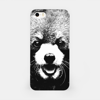 red panda portrait ws bw iPhone Case thumbnail image