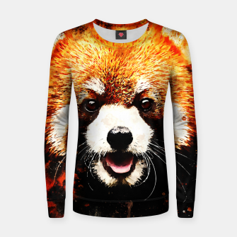 red panda portrait ws std Women sweater thumbnail image