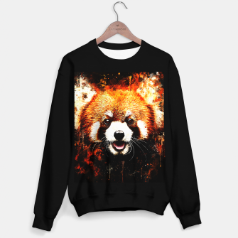 red panda portrait ws std Sweater regular thumbnail image