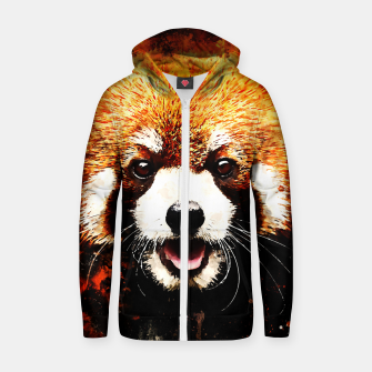 red panda portrait ws std Zip up hoodie thumbnail image