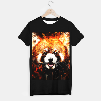 red panda portrait ws std T-shirt regular thumbnail image