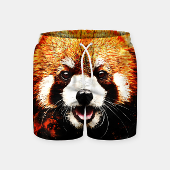 red panda portrait ws std Swim Shorts thumbnail image