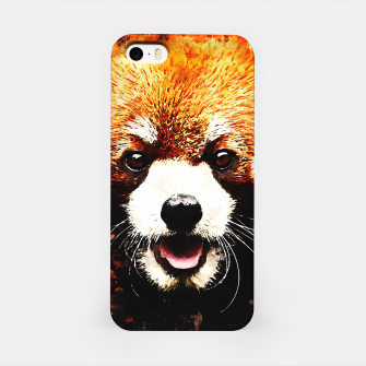 red panda portrait ws std iPhone Case thumbnail image
