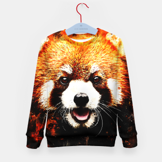 red panda portrait ws std Kid's sweater thumbnail image