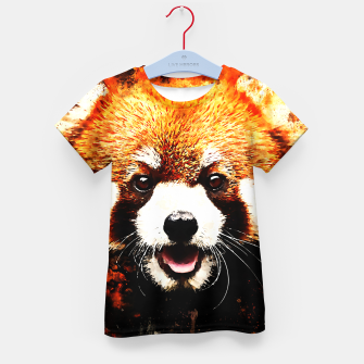 red panda portrait ws std Kid's t-shirt thumbnail image