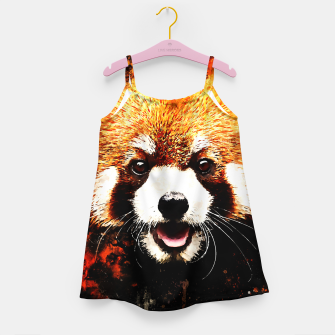 red panda portrait ws std Girl's dress thumbnail image