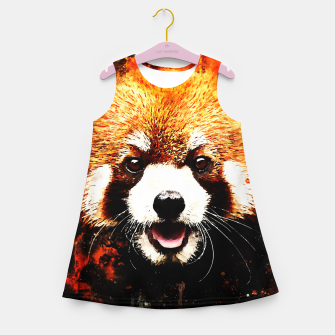 red panda portrait ws std Girl's summer dress thumbnail image