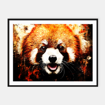 red panda portrait ws std Framed poster thumbnail image