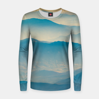 Chilean Andes Mountain Aerial View Women sweater thumbnail image