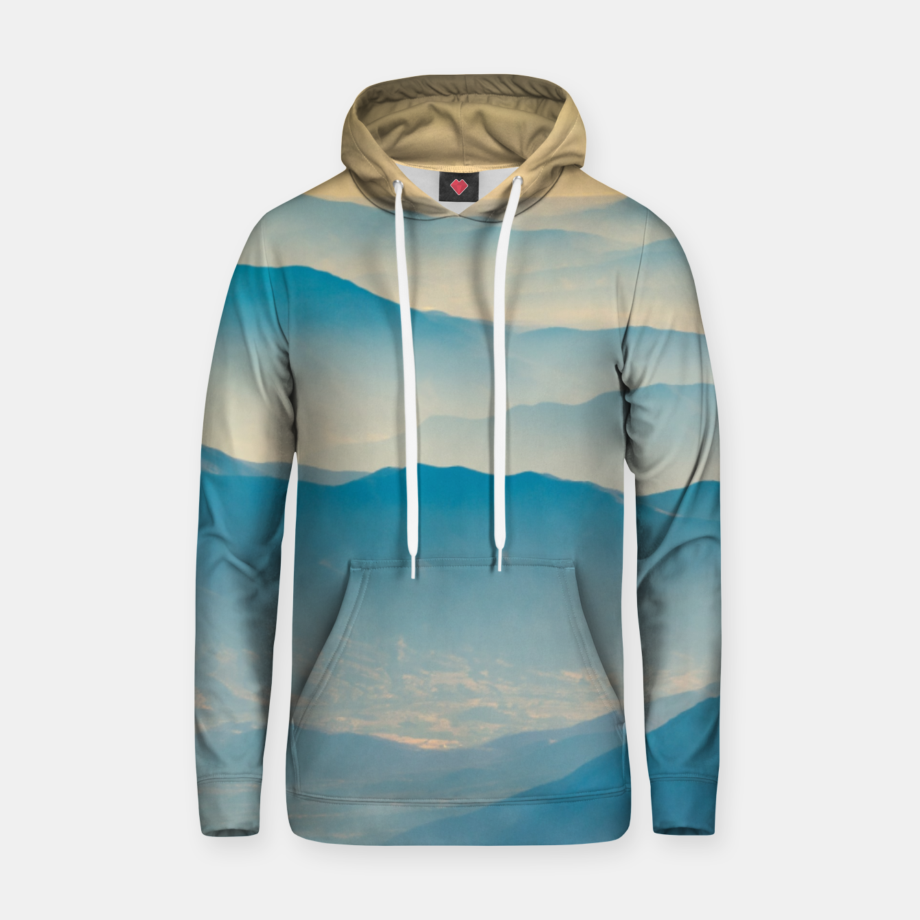 Image of Chilean Andes Mountain Aerial View Hoodie - Live Heroes