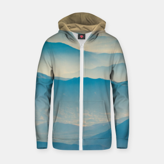 Chilean Andes Mountain Aerial View Zip up hoodie thumbnail image