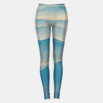 Chilean Andes Mountain Aerial View Leggings thumbnail image