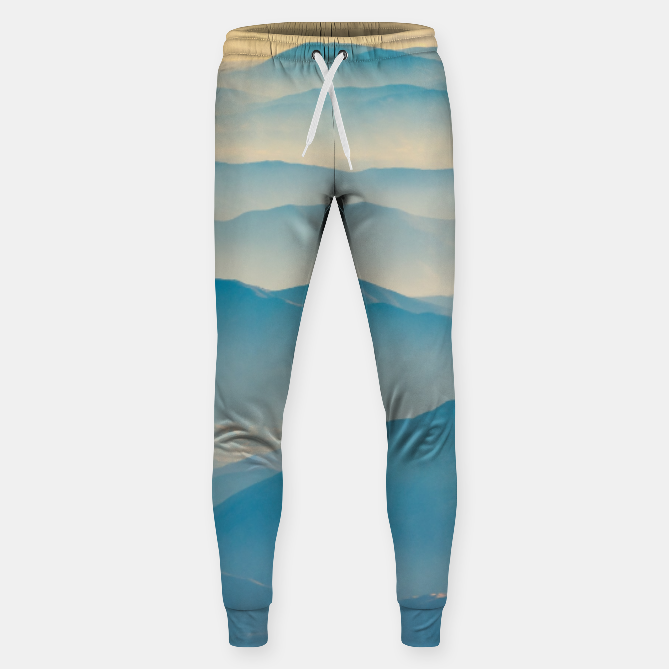 Image of Chilean Andes Mountain Aerial View Sweatpants - Live Heroes