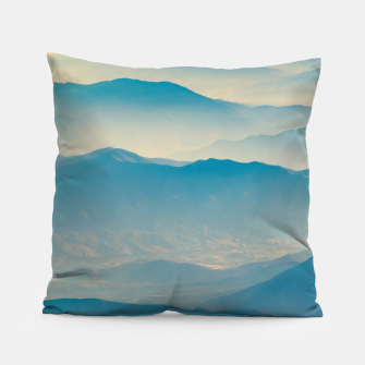 Chilean Andes Mountain Aerial View Pillow thumbnail image