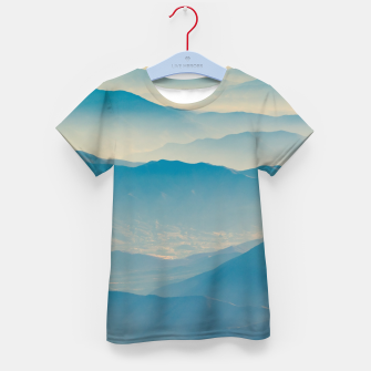 Chilean Andes Mountain Aerial View Kid's t-shirt thumbnail image