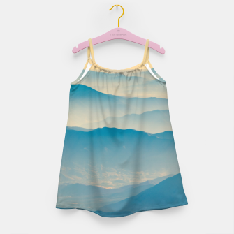 Chilean Andes Mountain Aerial View Girl's dress thumbnail image