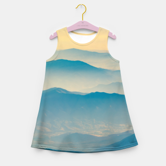 Chilean Andes Mountain Aerial View Girl's summer dress thumbnail image