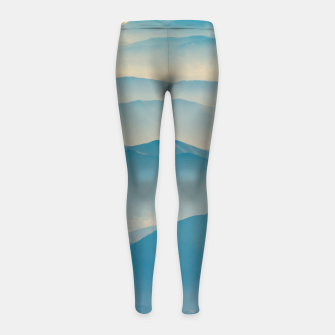 Chilean Andes Mountain Aerial View Girl's leggings thumbnail image