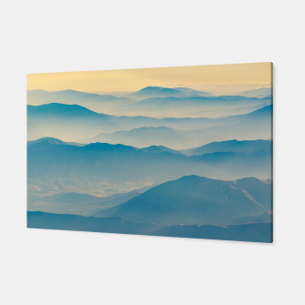 Chilean Andes Mountain Aerial View Canvas thumbnail image