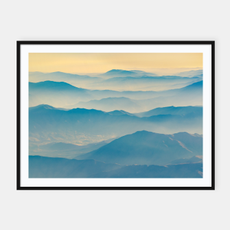 Chilean Andes Mountain Aerial View Framed poster thumbnail image
