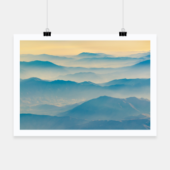 Chilean Andes Mountain Aerial View Poster thumbnail image
