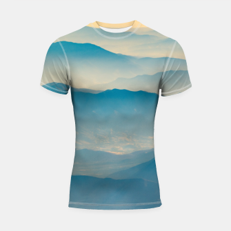 Chilean Andes Mountain Aerial View Shortsleeve rashguard thumbnail image