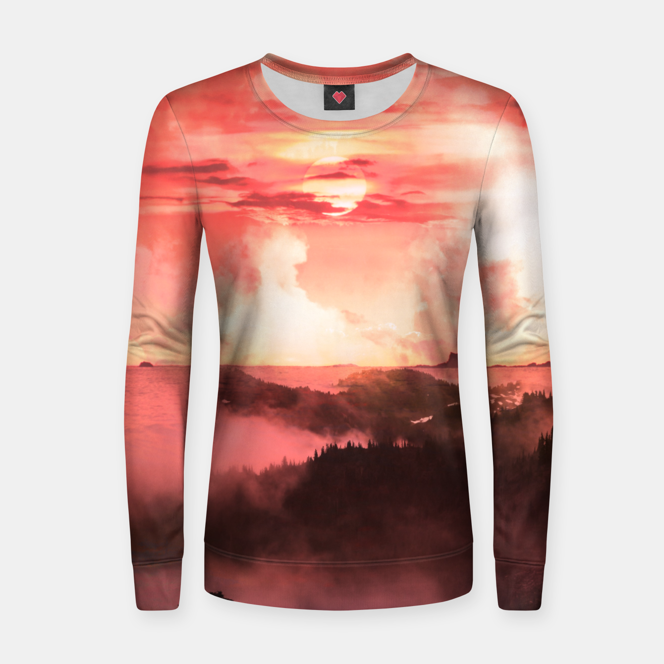 Image of Sunset Down Women sweater - Live Heroes
