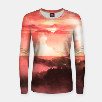 Thumbnail image of Sunset Down Women sweater, Live Heroes