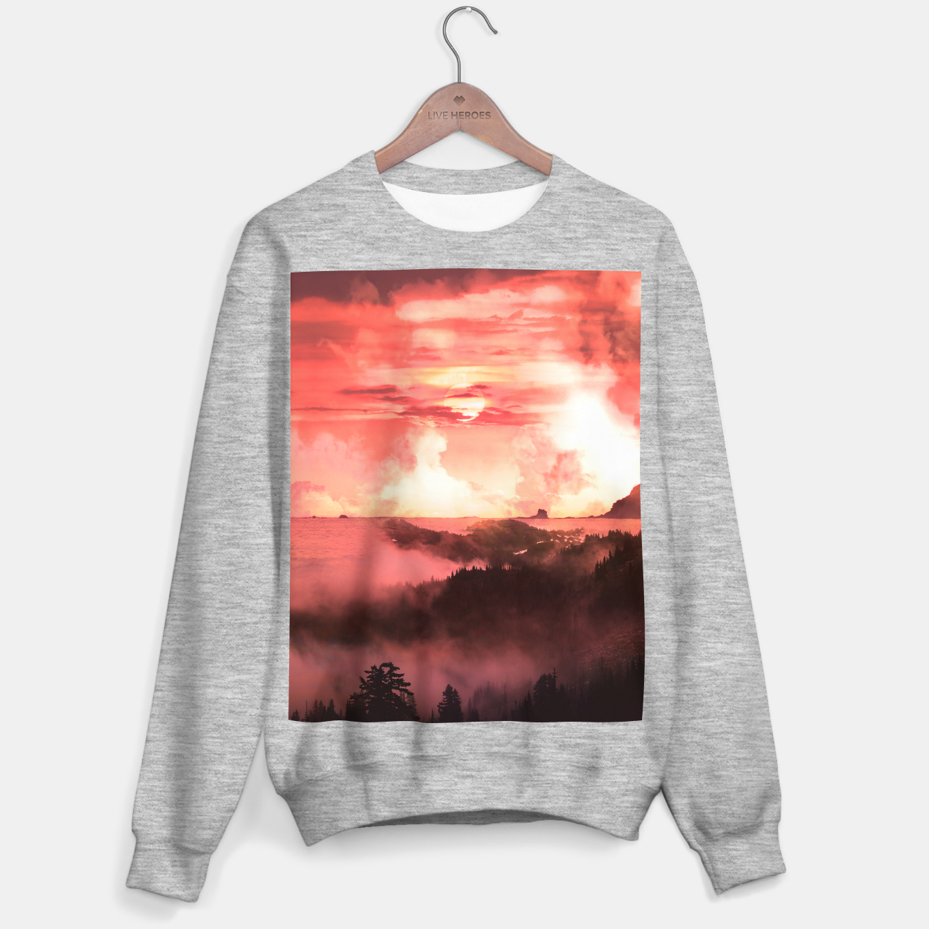 Image of Sunset Down Sweater regular - Live Heroes