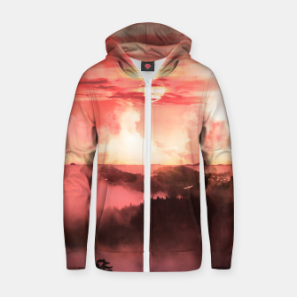 Thumbnail image of Sunset Down Zip up hoodie, Live Heroes