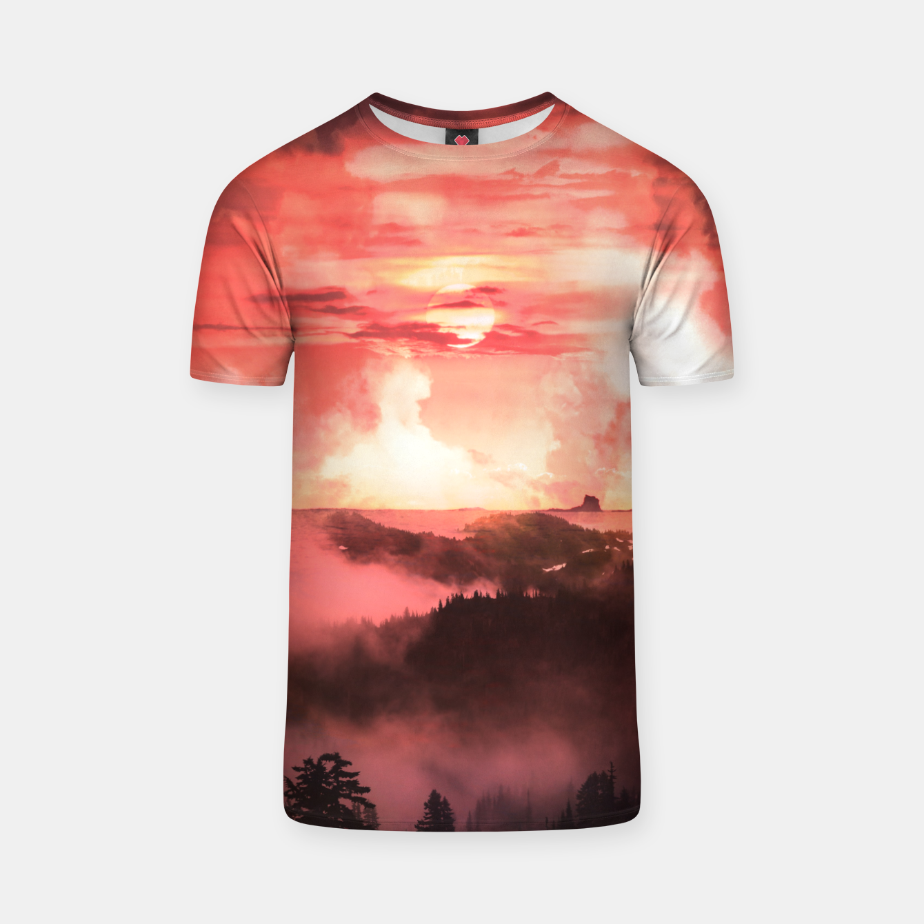Image of Sunset Down T-shirt - Live Heroes