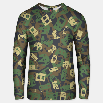 Thumbnail image of Gamer Camo WOODLAND Unisex sweater, Live Heroes