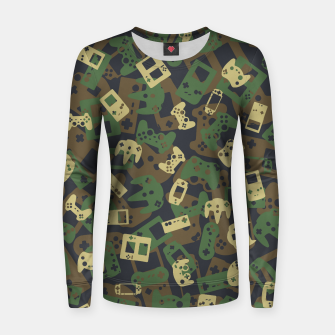 Gamer Camo WOODLAND Women sweater thumbnail image