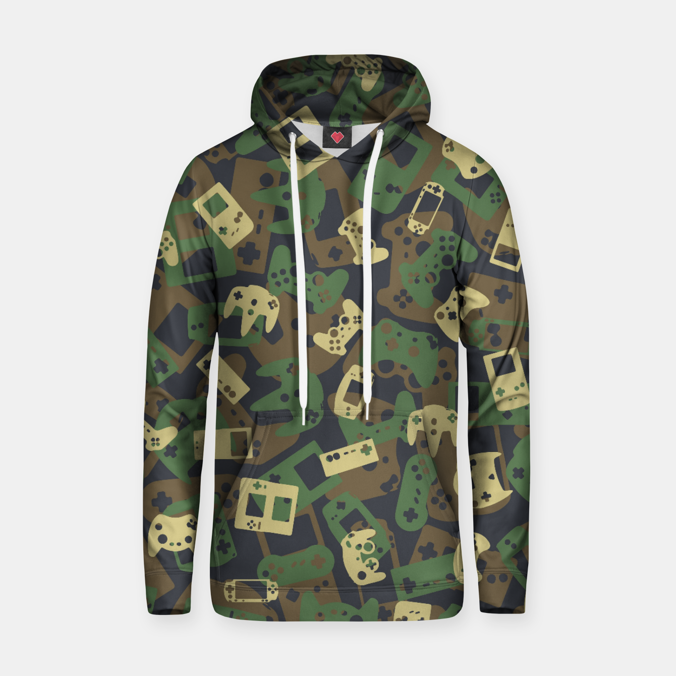 Image of Gamer Camo WOODLAND Hoodie - Live Heroes