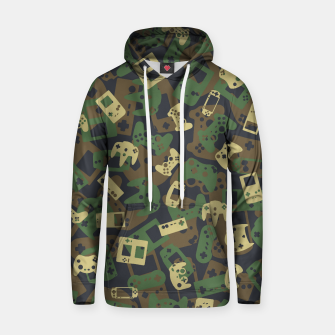 Thumbnail image of Gamer Camo WOODLAND Hoodie, Live Heroes