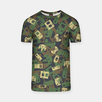 Thumbnail image of Gamer Camo WOODLAND T-shirt, Live Heroes