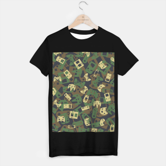 Thumbnail image of Gamer Camo WOODLAND T-shirt regular, Live Heroes