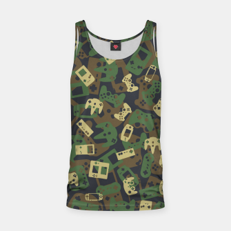 Thumbnail image of Gamer Camo WOODLAND Tank Top, Live Heroes