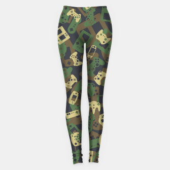 Thumbnail image of Gamer Camo WOODLAND Leggings, Live Heroes