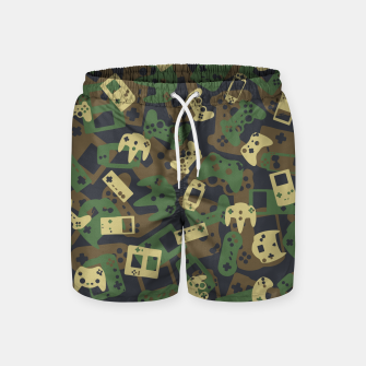Thumbnail image of Gamer Camo WOODLAND Swim Shorts, Live Heroes