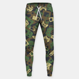 Thumbnail image of Gamer Camo WOODLAND Sweatpants, Live Heroes