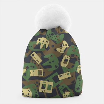 Thumbnail image of Gamer Camo WOODLAND Beanie, Live Heroes