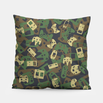 Thumbnail image of Gamer Camo WOODLAND Pillow, Live Heroes