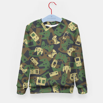 Thumbnail image of Gamer Camo WOODLAND Kid's sweater, Live Heroes